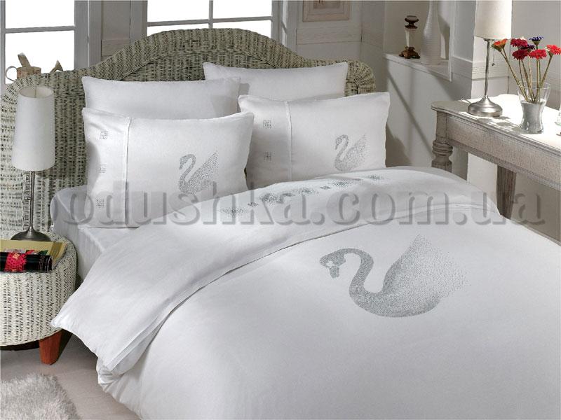 Постельное белье Hobby Crystal Kugu белый