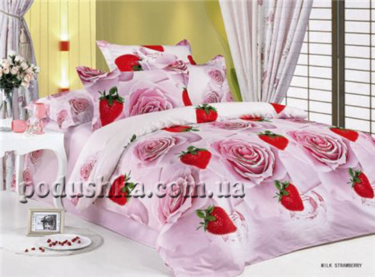 Комплект постели Milk Strawberry, ARYA