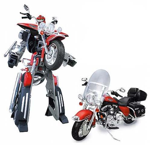 Робот-трансформер - Harley Davidson Flhrc Road King Classic (1:8)