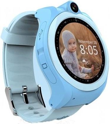 Детские телефон-часы с GPS трекером GoGPS me K19 Синие K19BL