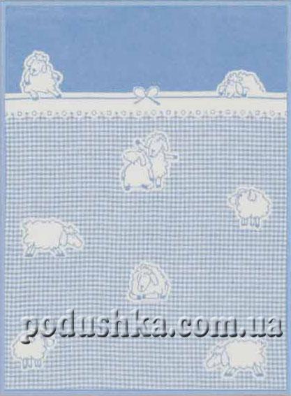 Плед детский Голубые овечки