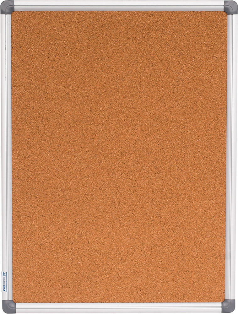 Доска пробковая 45x60см алюминиевая рамка BUROMAX BM 0016