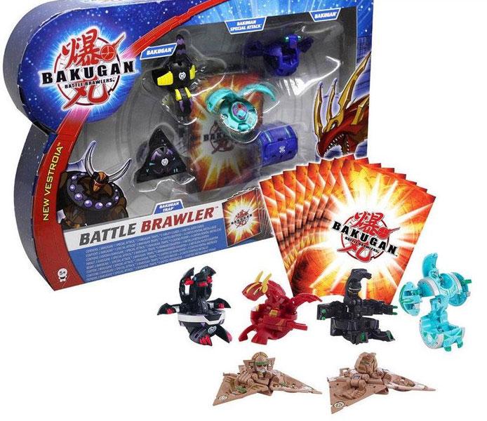 Игровой набор Batle Brawler ( 3 бакугана + 2 бакугана Trap + 3магн.карты + 5карт способностей)