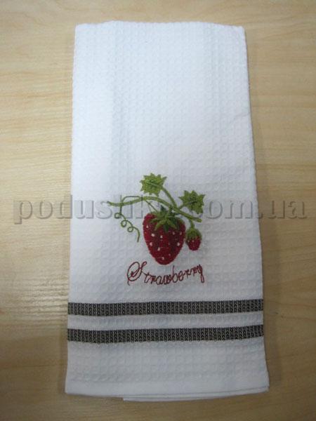 Полотенце кухонное вафельное Remzi Клубника