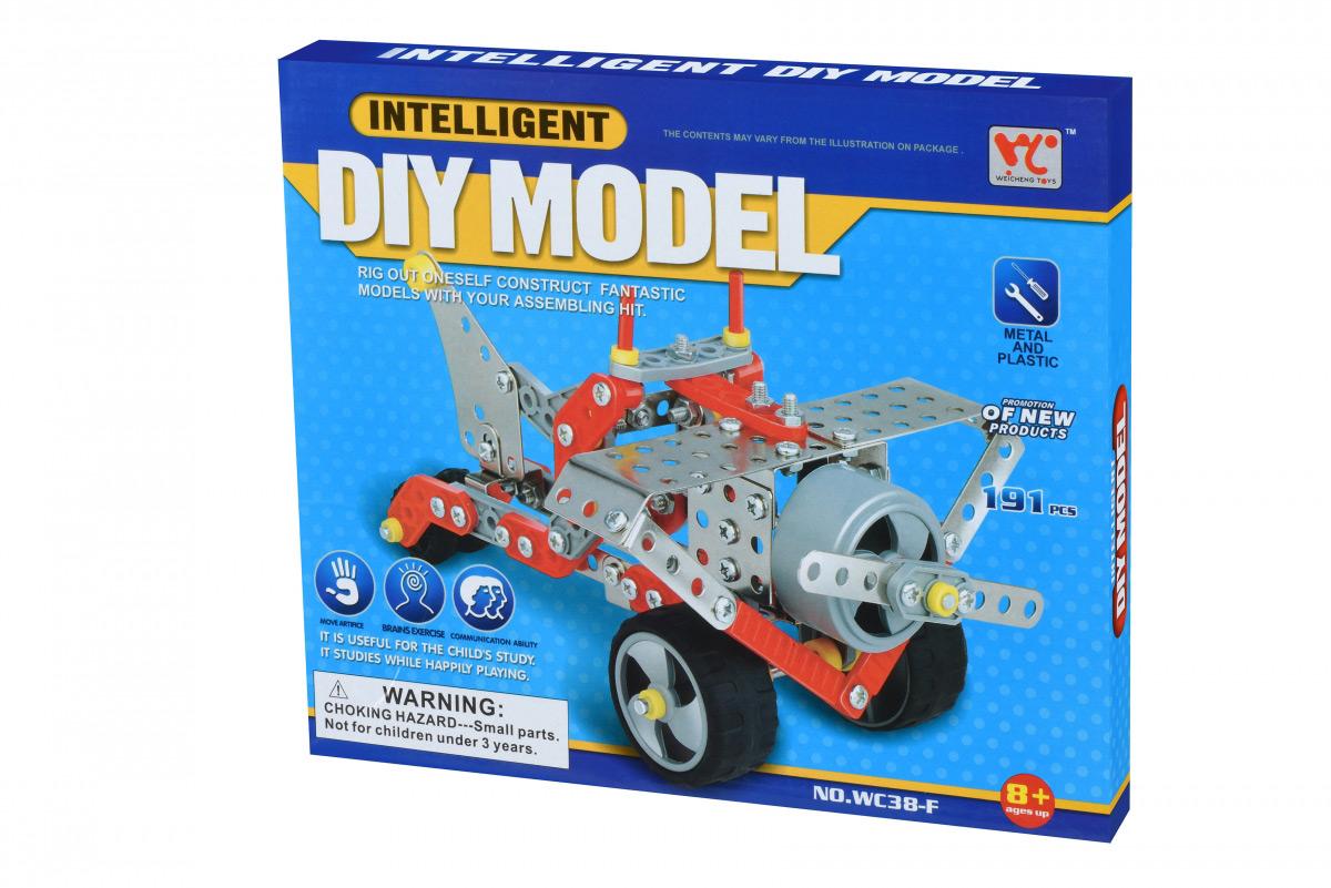 Конструктор металлический Same Toy Inteligent DIY Model Самолет 191 эл WC38FUt