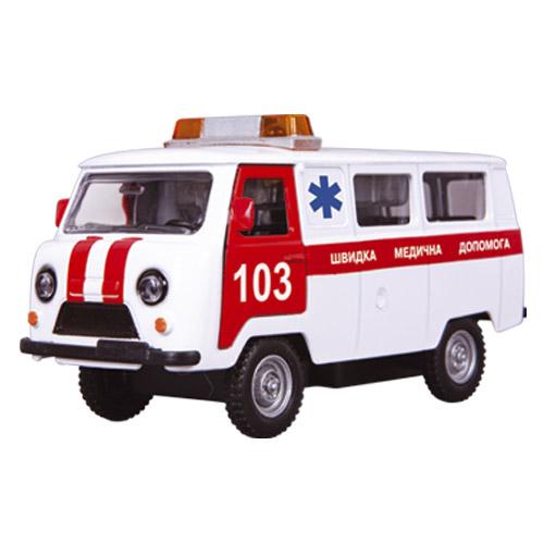 Автомодель - УАЗ-39625 Скорая Помощь (белая, свет, звук)