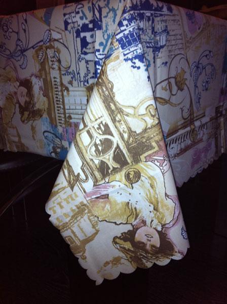 Скатерть Симфони с акриловым покрытием 2385