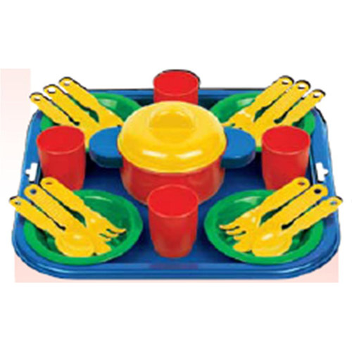 Набор посуды - Столовый (22 предмета, с кастрюлькой)