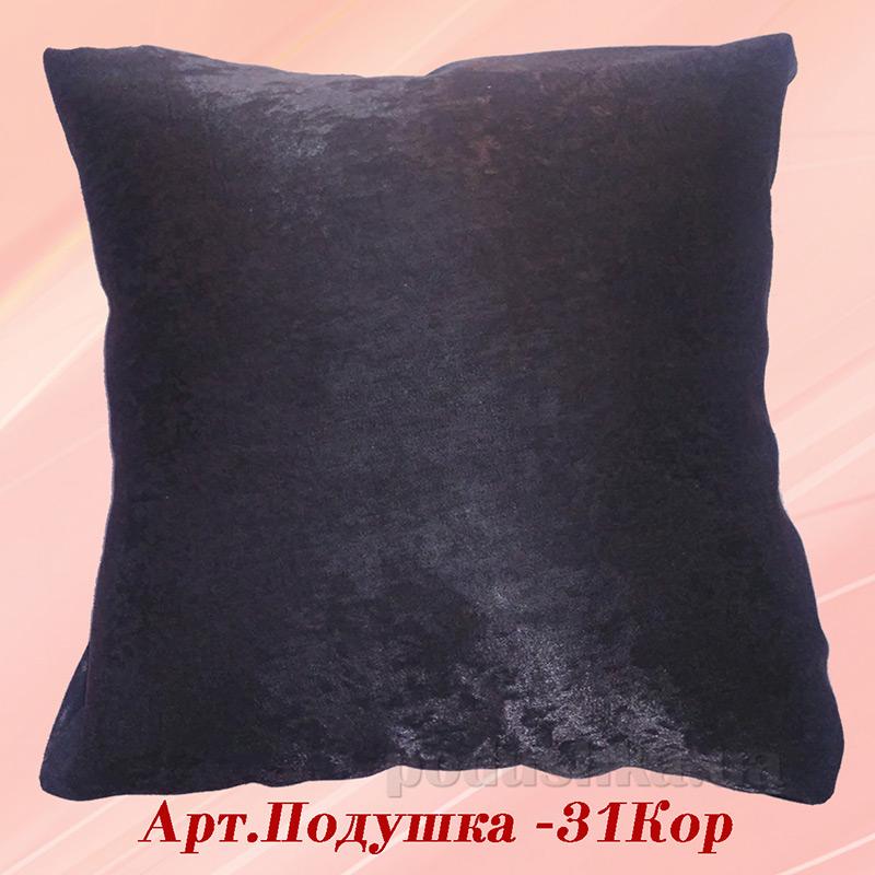 Подушка с вышивкой Украина ДП610 Нежность коричневая 40х40 см  Украина