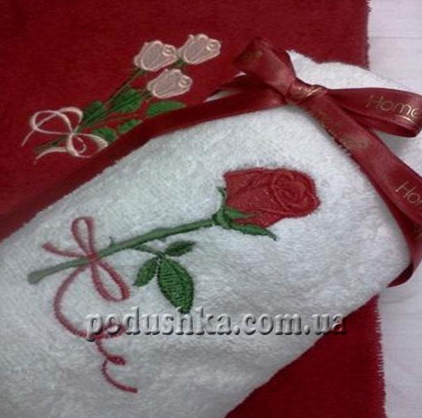 Набор махровых полотенец Роза (50х90 см, 70х140 см)
