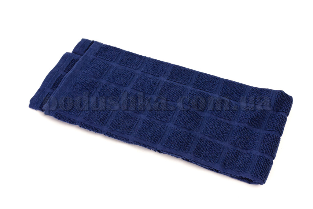 Полотенце кухонное Maisonette Kitchen Style-130 Квадраты темно-синее