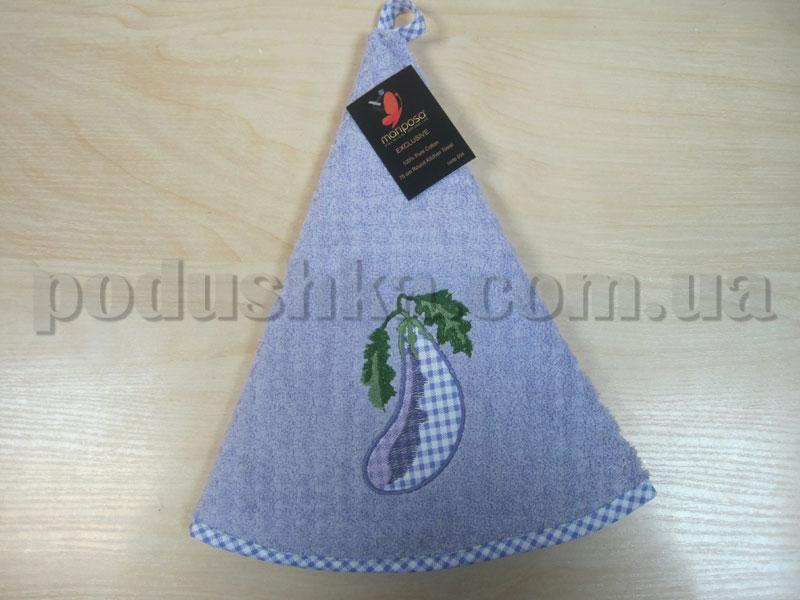 Полотенце махровое кухонное круглое Mariposa Баклажан