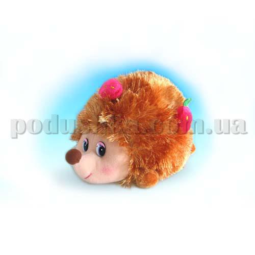 Мягкая игрушка - Ежик с ягодами музыкальный, 18 см
