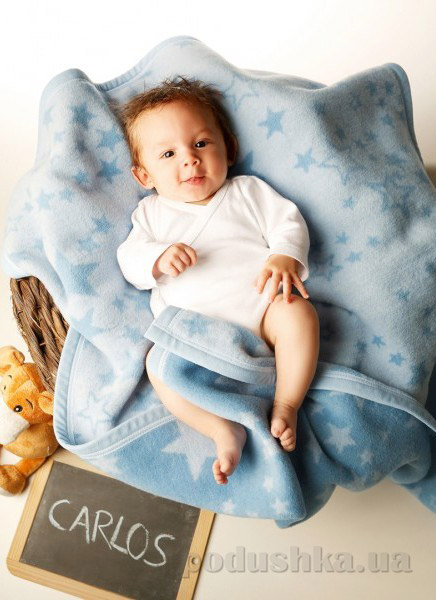 Плед детский Billerbeck Baby Cotton Sternenzelt 649706 75х100 см  Biederlack Borbo-Bocasa