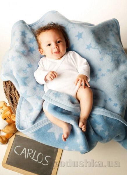 Плед детский Billerbeck Baby Cotton Sternenzelt 649706 75х100 см  Biederlack Borbo-Bocasa