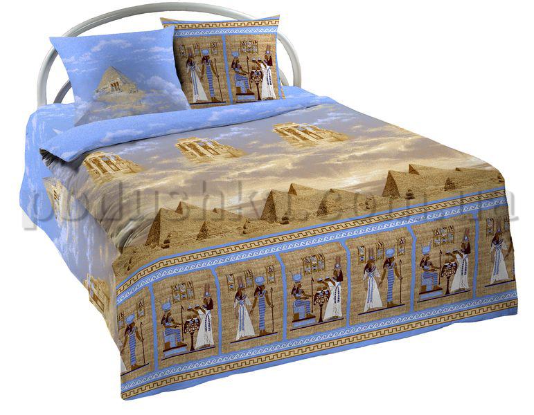 Постельное белье Шуйские ситцы Египет голубой 73951