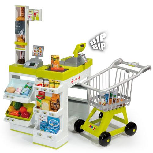 Интерактивный супермаркет с тележкой и аксессуарами