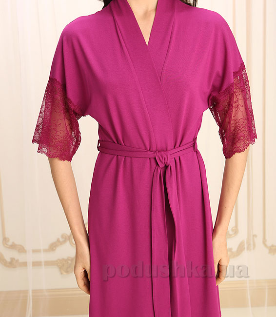 Женский халат Violet delux Х-М-14 марсала S  Violet delux