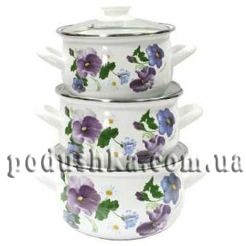 Набор посуды 3 предмета ФИАЛКА