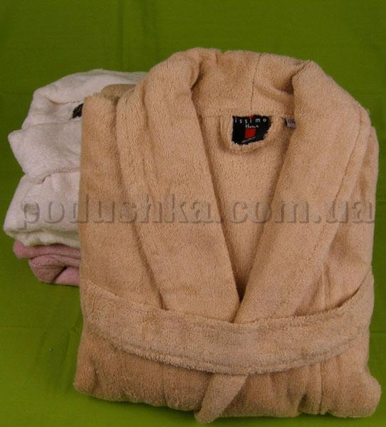 Халат махровый ISSIMO SALYAKA Light-brown светло-коричневый