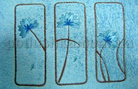 Полотенце махровое с вышивкой Унисон Pinks голубой