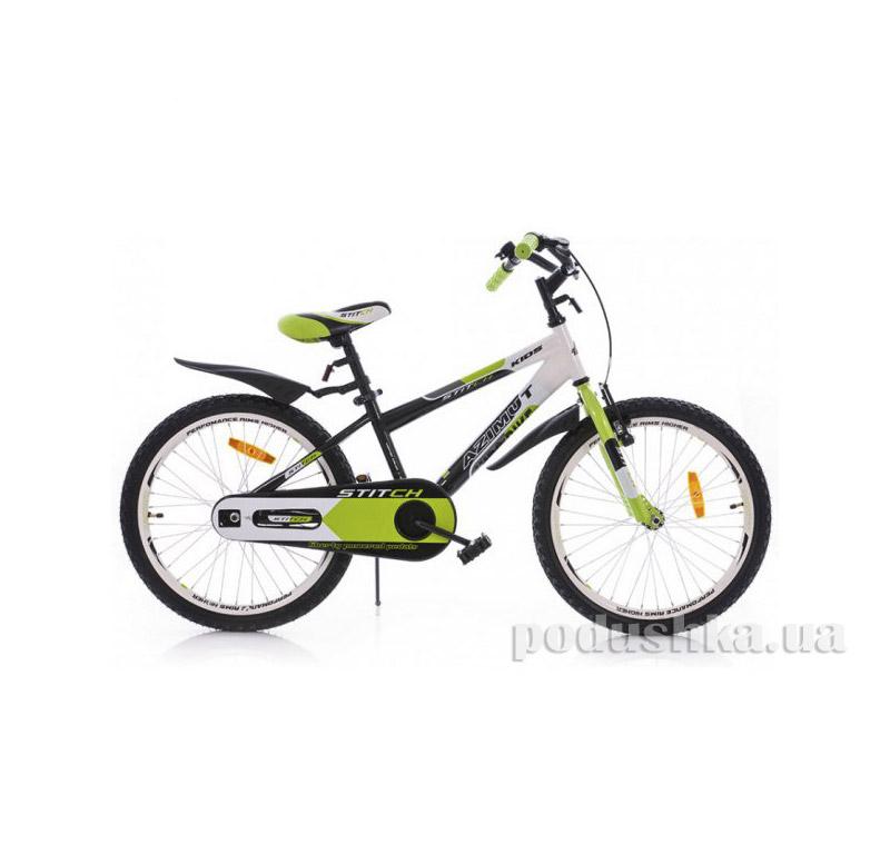 Велосипед Azimut Stitch 20 Черно-салатовый-белый   Azimut