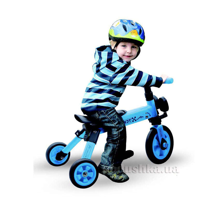 Складной трехколесный велосипед (2в1) TCV 36768 синий   TCV