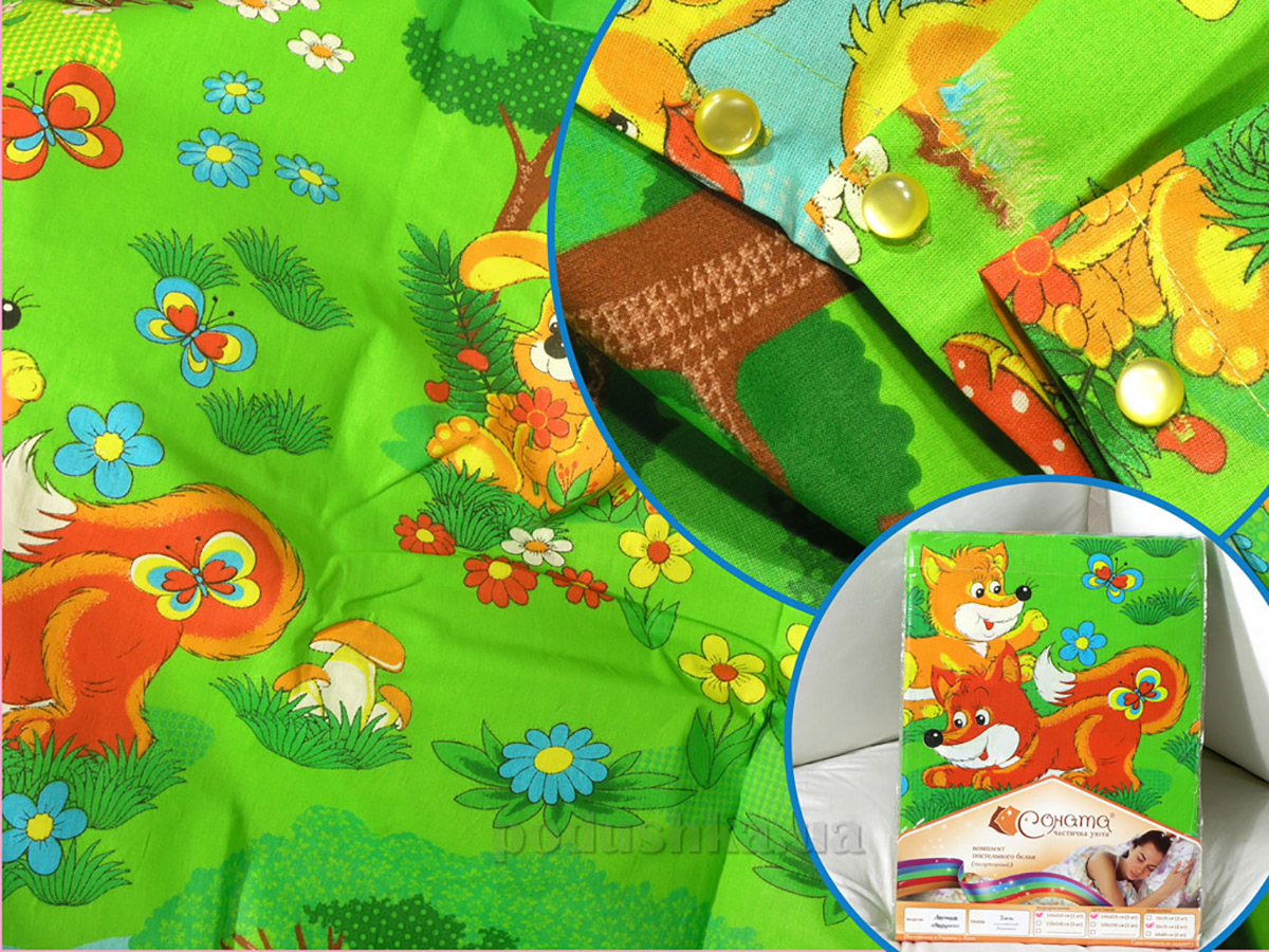 Подростковое постельное белье СОНАТА Лесные зверушки Подростковый комплект  Соната