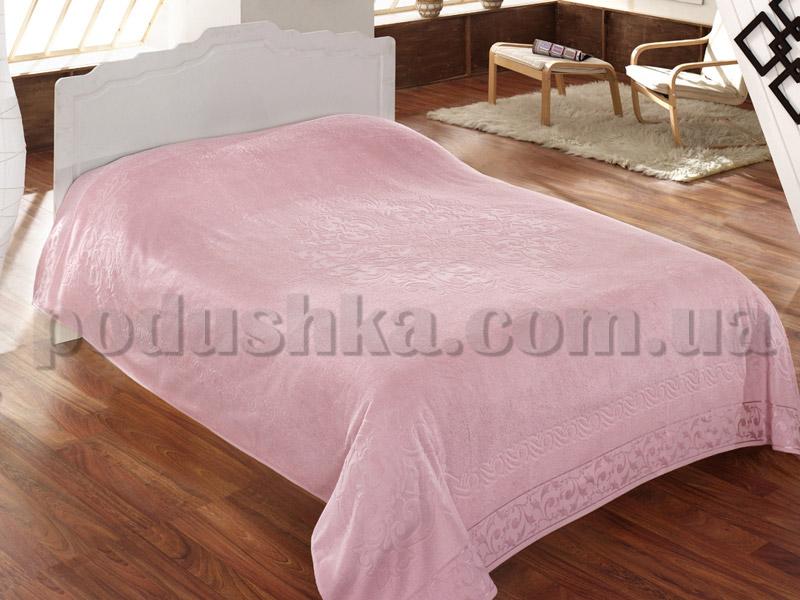 Покрывало махровое ISSIMO BAROQUE PINK (PEMBE) розовое