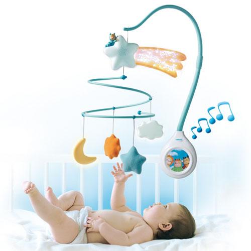 Музыкальный мобиль со светом и звуком Cotoons