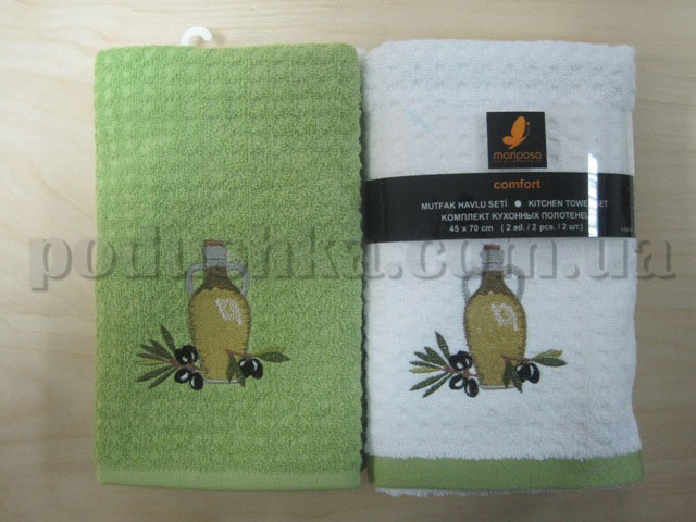 Набор махровых кухонных полотенец Mariposa Маслины 003
