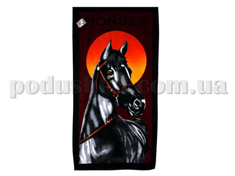 Полотенце пляжное Home line Черный конь