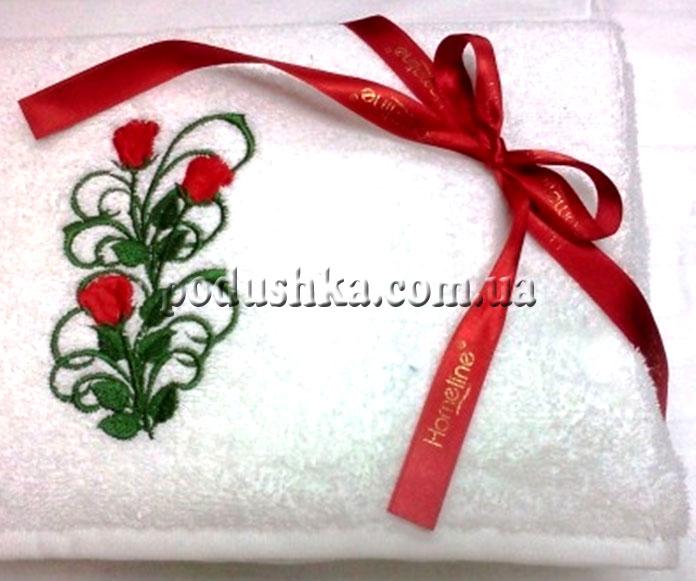 Полотенце махровое Роза (в коробке)