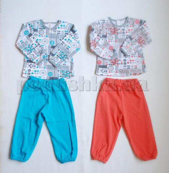 Пижама детская с кнопками Бемби ПЖ37 интерлок