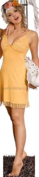 Домашнее платье Вайде 1385 (желтое)