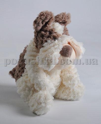 Мягкая игрушка - Собака Бобби коричневая, 25 см