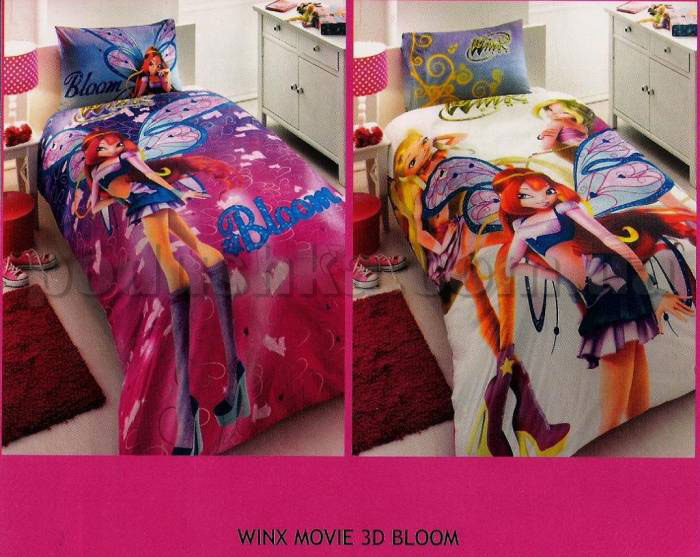 Постельное белье TAC Winx movie 3D Bloom с простыней на резинке