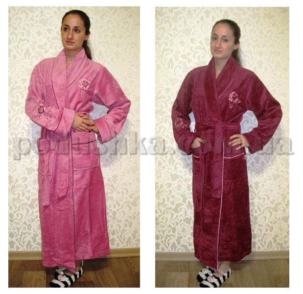 Халат женский длинный без капюшона Nusa NS-00620