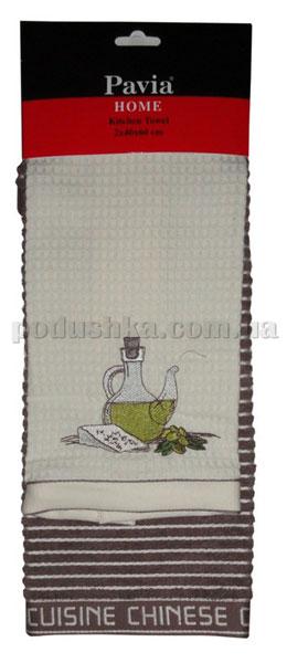 Набор кухонных полотенец PAVIA SISE-PEYNIR (БУТЫЛКА-СЫР)