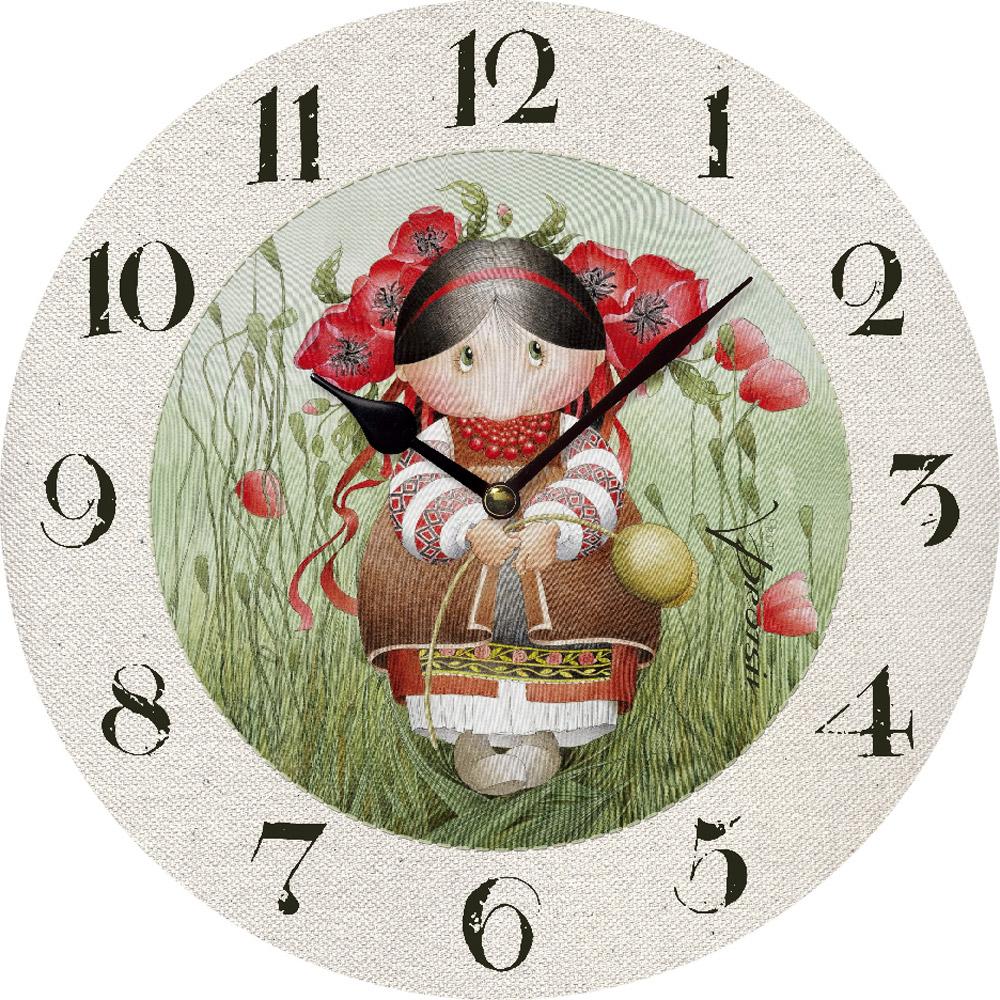 Часы настенные ЮТА Засватаная Макивка 330мм МДФ PR-001