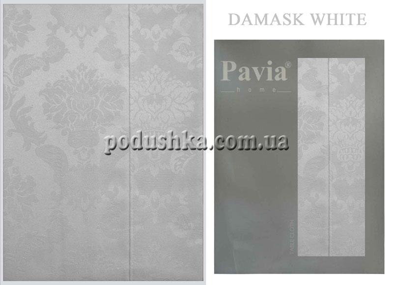 Скатерть DAMASK WHITE (белая), Pavia