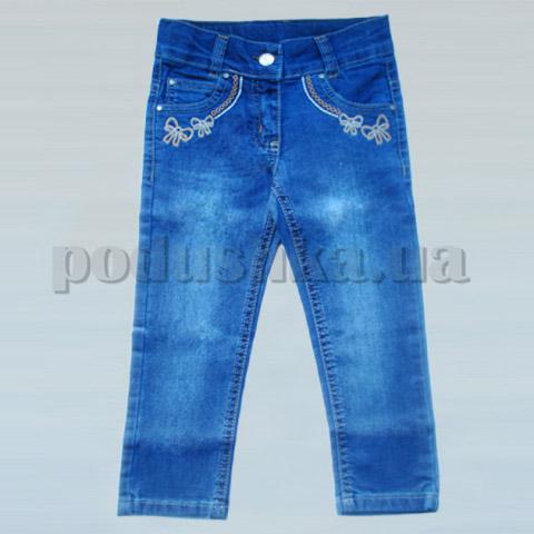 Штаны для девочки Бемби ШР190 джинс