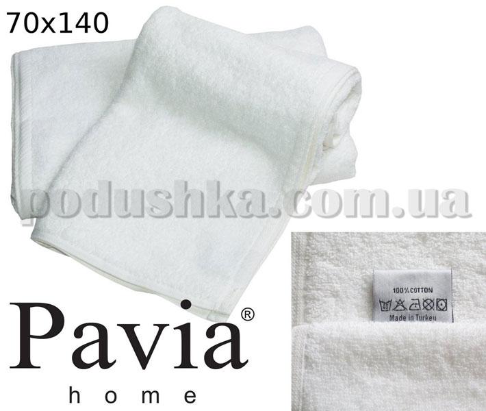 Полотенце махровое Pavia банное белое 70х140 см