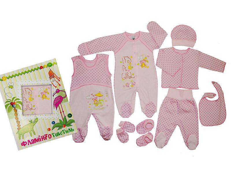 Подарочный комплект для девочек Фламинго 568 интерлок