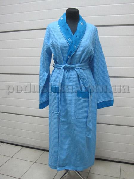 Халат женский вафельный длинный Nusa NS-8090