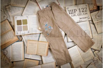 Детские брюки с рисунком Бемби ШР122 вельвет