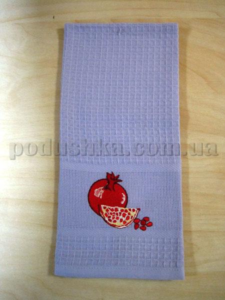 Набор вафельных кухонных полотенец Mariposa 012 Гранат фиолетовый