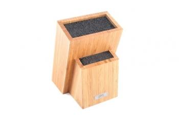 Подставка для хранения ножей 19х12х27 см (бамбук, пластик) 6996В