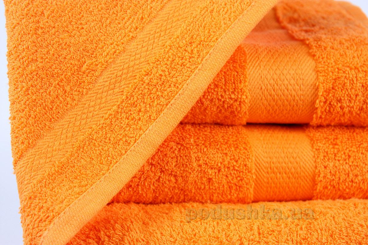Махровое полотенце IzziHome Smiley оранжевое 30х30 см  Izzihome