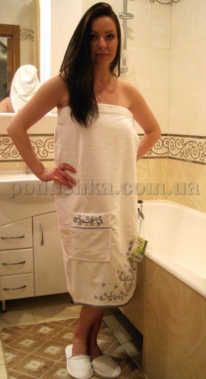 Набор для сауны женский Nusa NS-030 белый